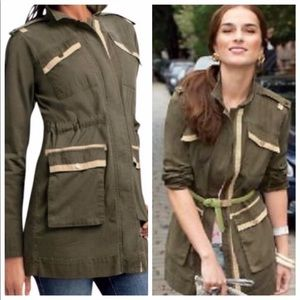 CAbi Anorak Army Green Military Style Jacket #722